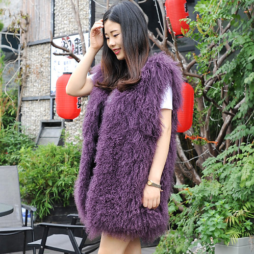 DMGB101D Chic Mongolia Lamb Duster Vest