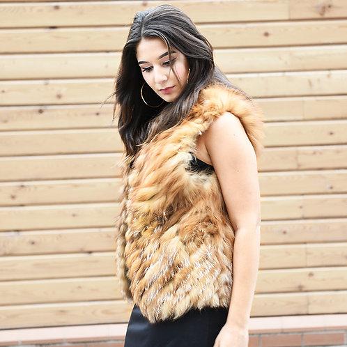 DMGB204 Finn Red Fox Fur Gilet