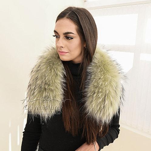 DMA102H Raccoon Fur Collar / Raccoon Fur Trim Hood / Parka Collar