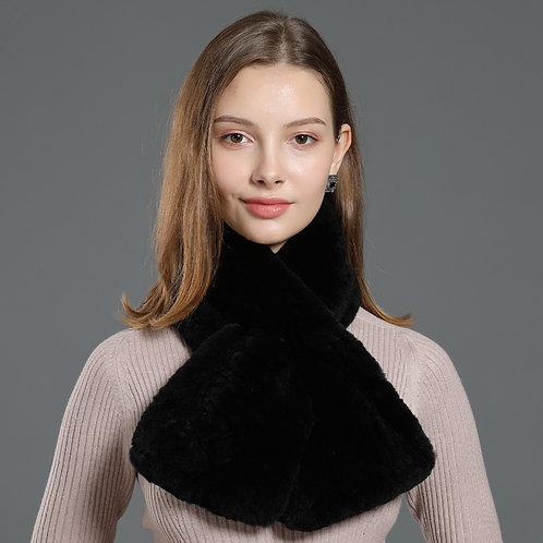 DMS33A Rex Rabbit Fur Knit Scarf