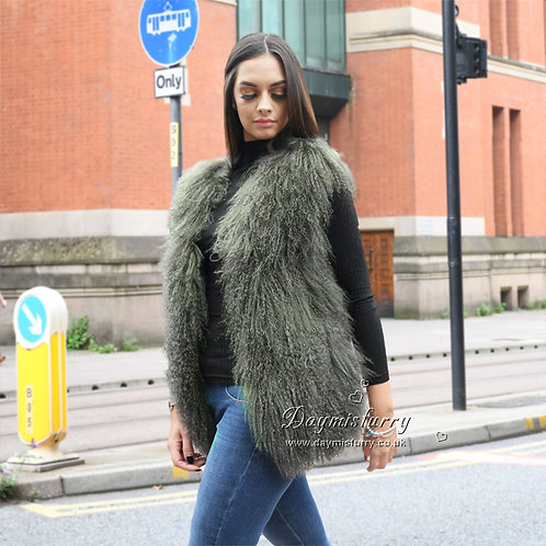 DMGB160R  Mongolian Lamb Fur Fur Vest / Jacket for Winter