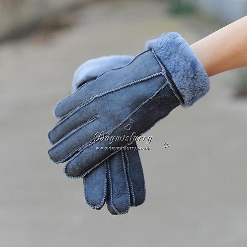 DMA31H  Leather Shearling Sheepskin Glove