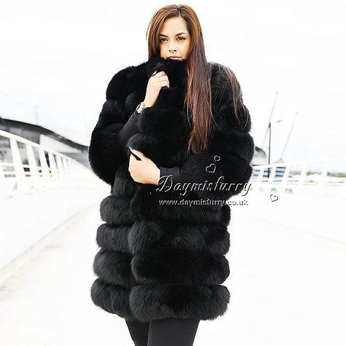 DMGA15 Extremely luxury Fox Horizontal Fur Jacket