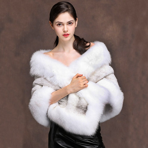 DMBM05B Vintage Mink Fur Stole / Bridal Fur Shawl / Mink Fur Wrap