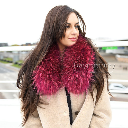 DMA76N Detachable Raccoon Fur Parka Jacket Collar