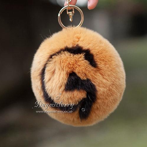 DMR03D Rex Rabbit Fur Ball Bag Charm