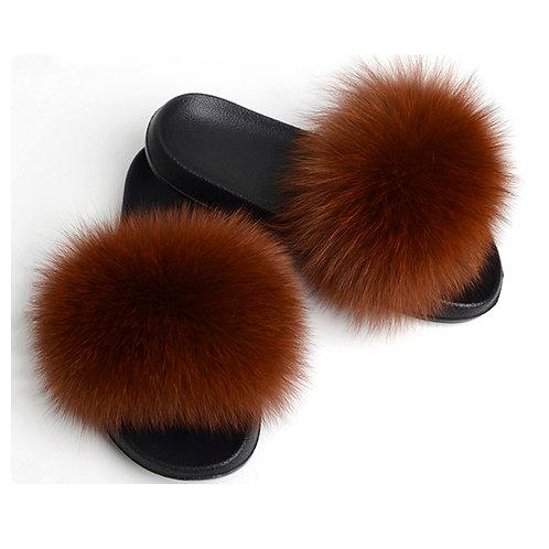 Fox Fur Furry Slipper
