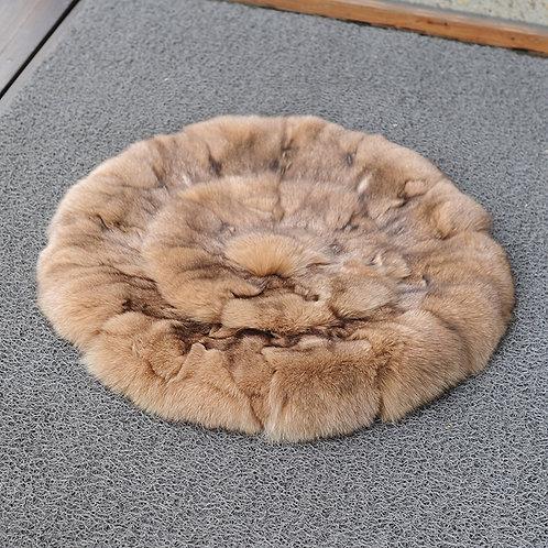 DMD35H PatchWork  Fox Fur Cushion -19.5