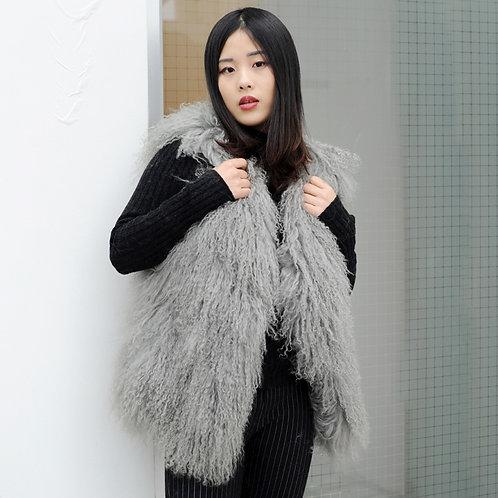 DMGB160 Chic Mongolia Lamb Duster Vest