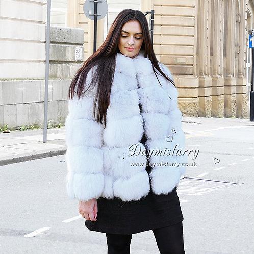DMGA114 Extremely luxury Fox Fur Coat