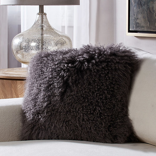DMD04S  Mongolian lamb Fur Pillow / Cushion Case