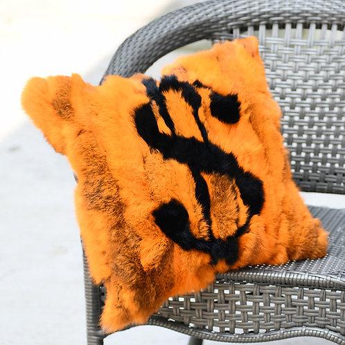 "DMD136F Piece Rabbit Fur Pillow Cover -17.7""x17.7"""