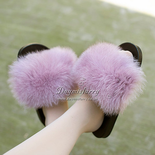 DMA70  Fox Fur Slide - Purple Heather