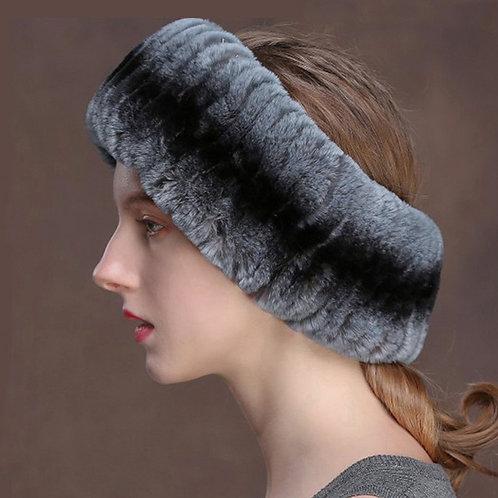 DME38K Rex Rabbit Fur Headbands / Fur Snood