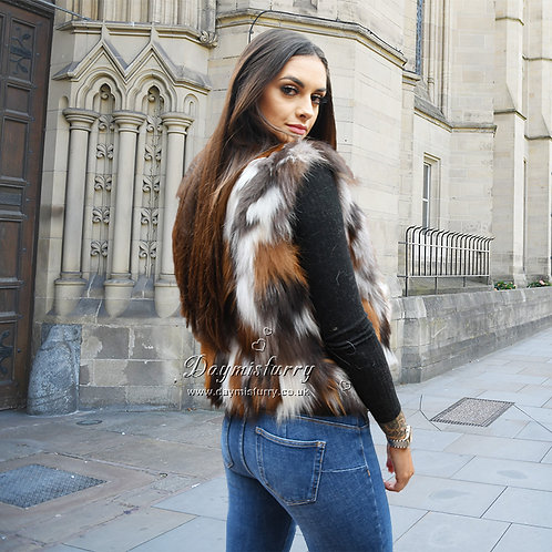 DMGB209 Fox Fur Vest / Sleeveless Jacket for Winter