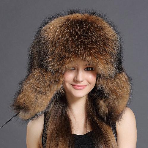 DMC219 Raccoon Full Fur Russian Hat