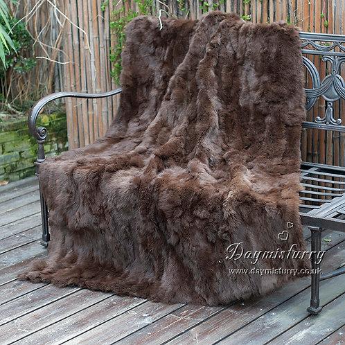 DMD11V Patchwork Rabbit Fur Blanket Carpet