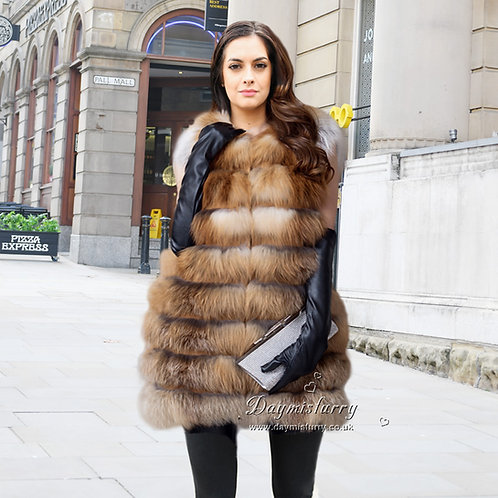 DMGB24A Red Fox Fur Vest / Fur Jacket