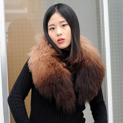 DMA62 Detachable Ombre Mongolian Lamb Fur Collar