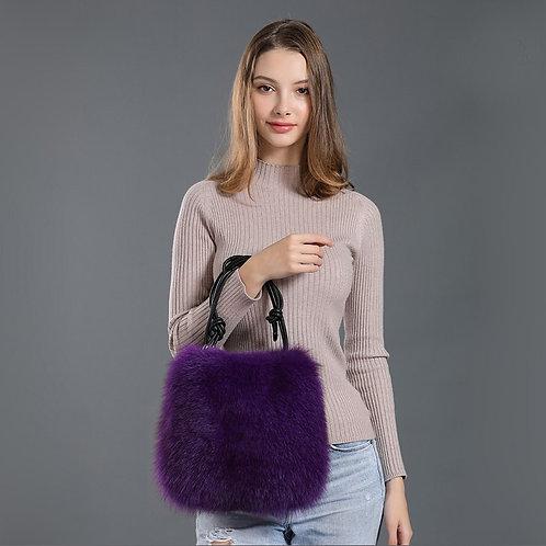 DMH10C Fox Fur Shoulder Hand Bag