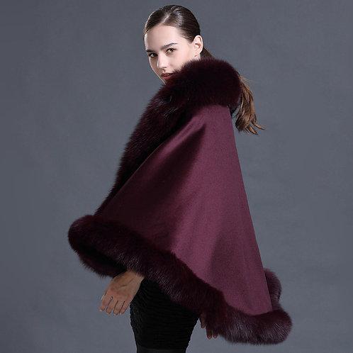 DMBP39B  Cashmere Fur Shawl / Warm Wrap