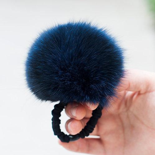 DME03D Fox Fur Pom Pom Hair Band