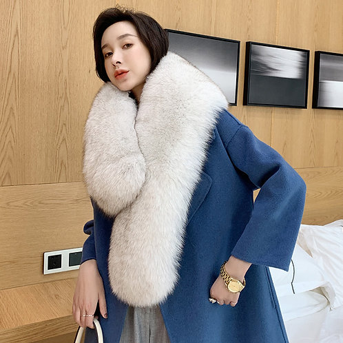 DMA01B Large Fox Fur Shoulder Wrap / Stole / Collar