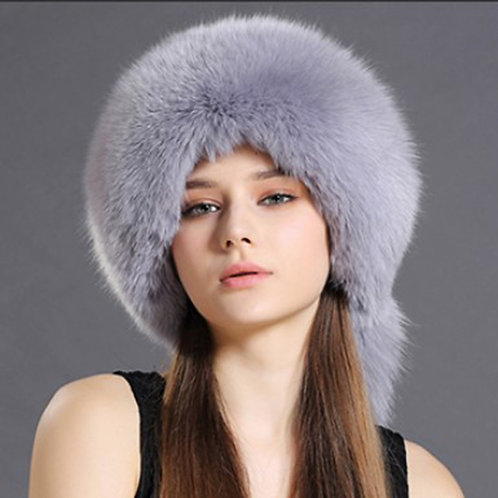 DMC175D  Fox Fur Hat with Rex rabbit Top