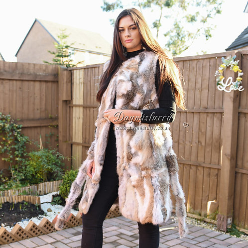 DMGB40A  Rabbit Fur Fur Vest Women / Sleeveless Jacket for Winter