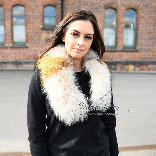 DMA42 Detachable Raccoon Fur Collar
