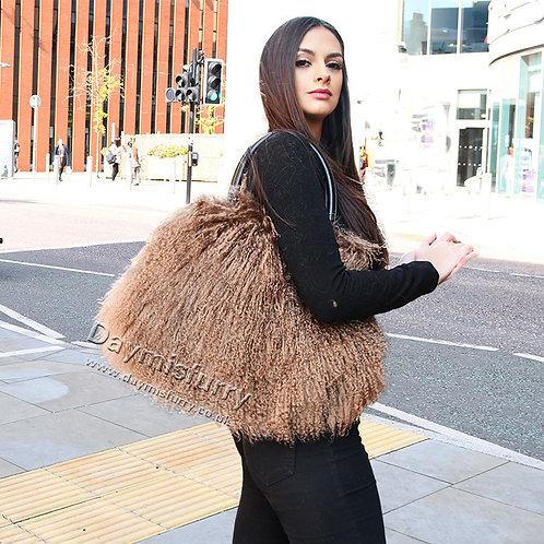 DMH24K  Mongolia Lamb Fur Tote Bag Hand Bag