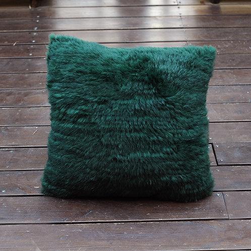"""DMD79D Knit  Rabbit Fur Pillow  -19.5""""x19.5"""""""