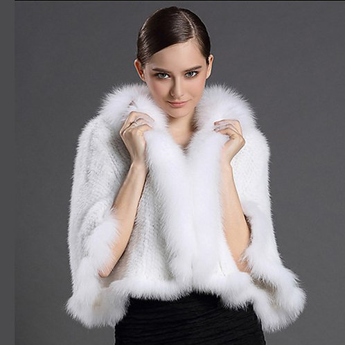 DMBM41A Mink Fur Wedding Shawl / Cape