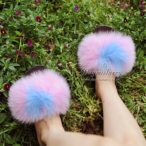 Fox Fur Furry Slipper