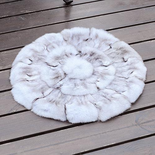 """DMD35B PatchWork Fox Fur Cushion - 19.5"""""""