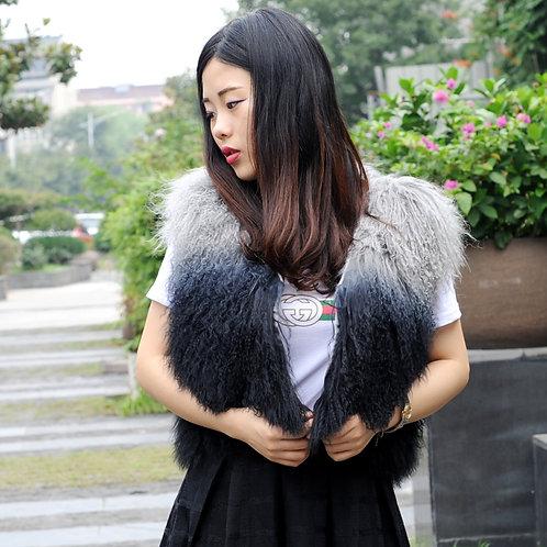 DMGB238B Ombre Mongolia Lamb Fur Vest