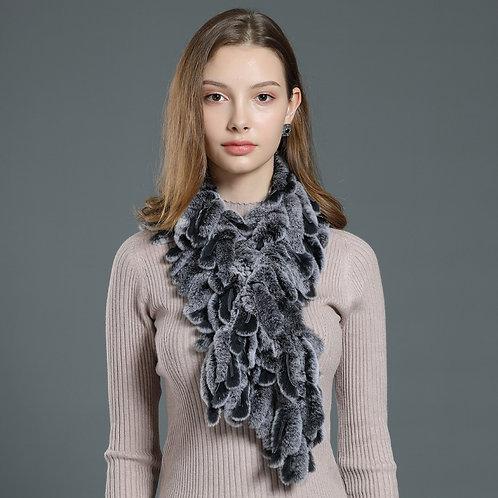 DMS46C Rex Rabbit Fur Fashion Scarf