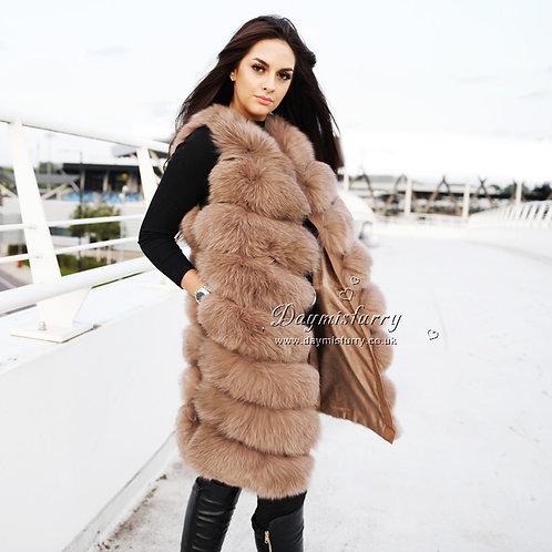 DMGB239G Fox Fur Gilet / Real Fur Vest