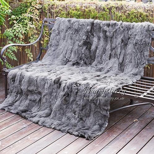 DMD11U Patchwork Rabbit Fur Blanket Carpet
