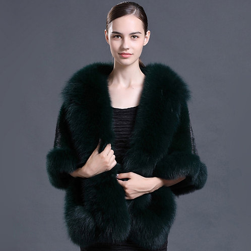DMBM05R Mink Fur Shawl Luxury Wedding /  Bridal Bolero