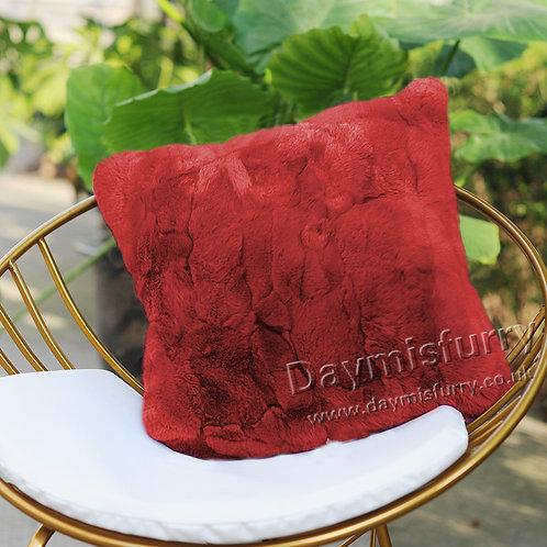 DMD22H Dyed Rex Rabbit Fur Pillow Cover / Cushion Cover