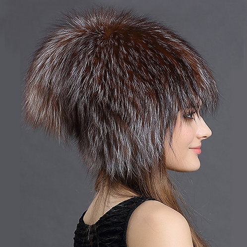 DMC73B  Fox Fur Hat /  Fashion Fur Hats
