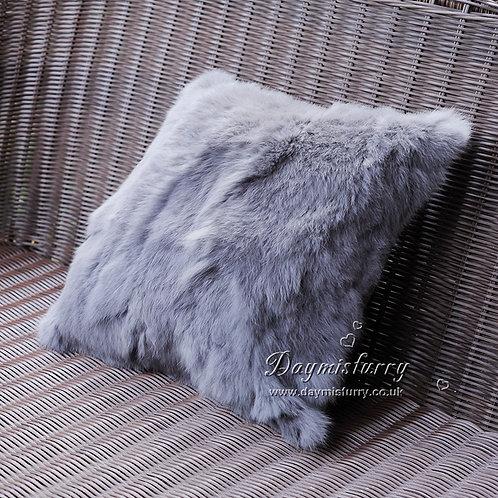 DMD17R Dyed Pieced Rabbit Fur Pillow Cover