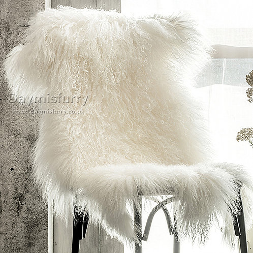 DMD60B Tibetan Mongolian Sheepskin Rug Fur Hide