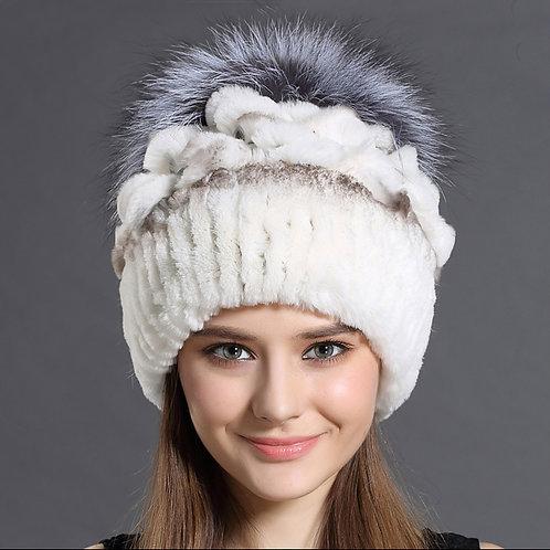 DMC203A Rex Rabbit and Silver Fox Fur Hats
