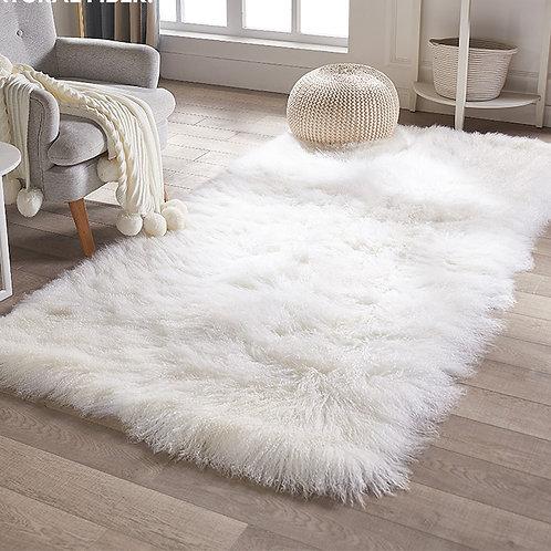 DMD23 Mongolian Lamb Fur Throw Blanket