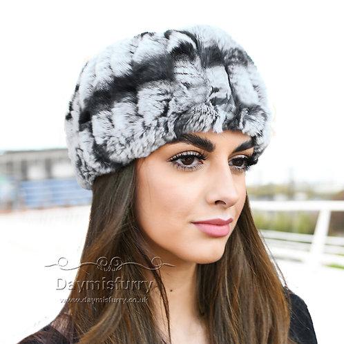 DME37D Rex Rabbit Fur Headband / Fur Neck Warmer