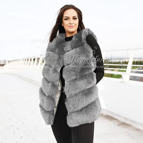 DMGB04C Fox Fur Vest Lady Fashion Gilet