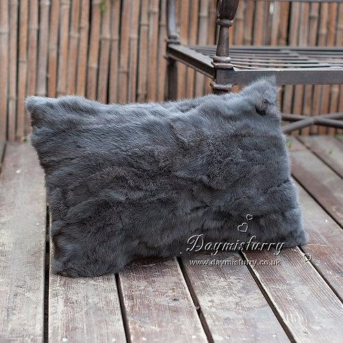 DMD68B   Full Pelt Rabbit Fur Pillow Cover