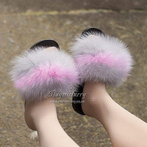DMA100C  Fox Fur Slides - Whisper Pink
